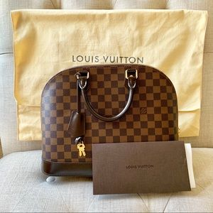 Louis Vuitton Alma MM Ebene Handbag